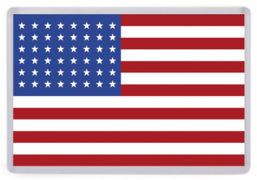 USA Flag Fridge Magnet. United States of America